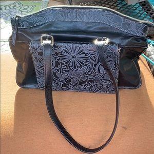 EUC Firenze Bella black leather purse